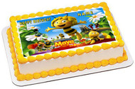 Maya the Bee - Edible Cake Topper OR Cupcake Topper, Decor