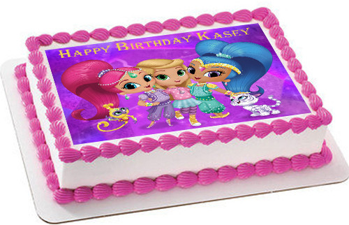 Shimmer And Shine Edible Birthday Cake Topper
