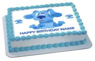 BLUE'S CLUES Edible Birthday Cake Topper OR Cupcake Topper, Decor