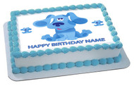 BLUE'S CLUES - Edible Cake Topper OR Cupcake Topper, Decor