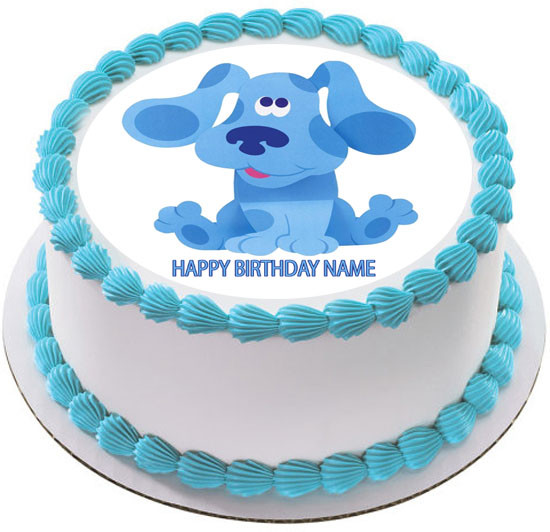 Marvelous Blues Clues Edible Birthday Cake Topper Personalised Birthday Cards Fashionlily Jamesorg