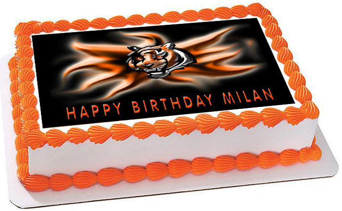 Enjoyable Cincinnati Bengals 2 Edible Birthday Cake Topper Personalised Birthday Cards Paralily Jamesorg