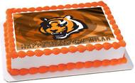 CINCINNATI BENGALS 3 Edible Birthday Cake Topper OR Cupcake Topper, Decor