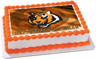 CINCINNATI BENGALS (Nr3) - Edible Cake Topper OR Cupcake Topper, Decor
