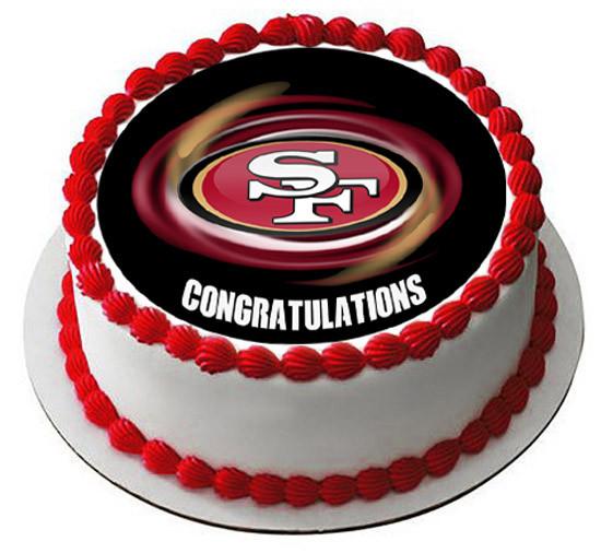 Super San Francisco 49Ers B Edible Birthday Cake Topper Personalised Birthday Cards Paralily Jamesorg