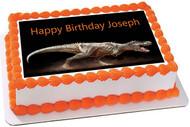 Dinosaur - Edible Cake Topper OR Cupcake Topper, Decor