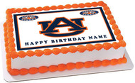 Auburn Tigers - Edible Cake Topper OR Cupcake Topper, Decor