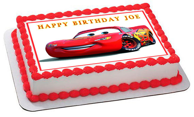 Groovy Disney Pixar Cars Lightning Mcqueen 1 Edible Birthday Cake Topper Personalised Birthday Cards Cominlily Jamesorg