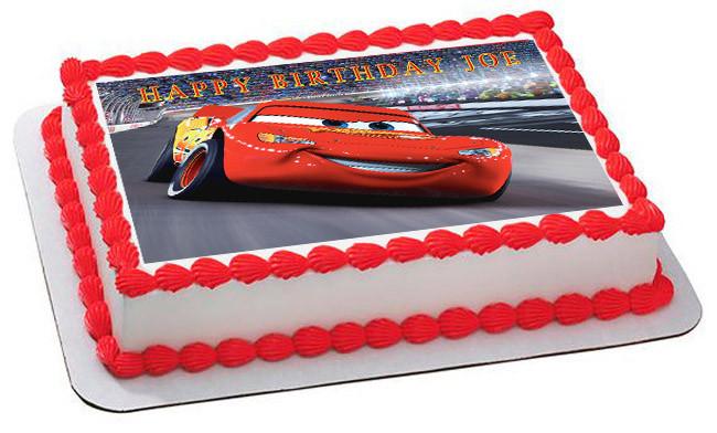 Disney Pixar Cars Lightning Mcqueen Nr2 Edible Cake Topper Or Cupcake Topper Decor