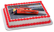 Disney Pixar Cars Lightning McQueen 2 Edible Birthday Cake Topper OR Cupcake Topper, Decor