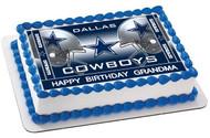 Dallas Cowboys (Nr2) - Edible Cake Topper OR Cupcake Topper, Decor