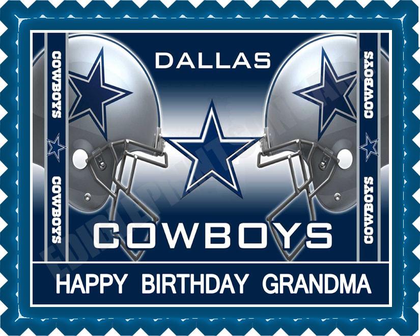 Dallas Cowboys 2 Edible Birthday Cake Topper