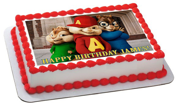 Cool Alvin And The Chipmunks Road Chip 1 Edible Birthday Cake Topper Funny Birthday Cards Online Sheoxdamsfinfo