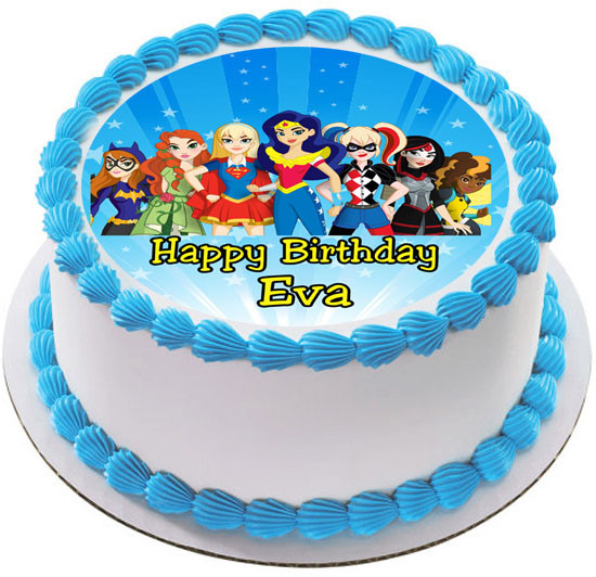 Admirable Dc Superhero Girls Edible Birthday Cake Topper Funny Birthday Cards Online Aeocydamsfinfo