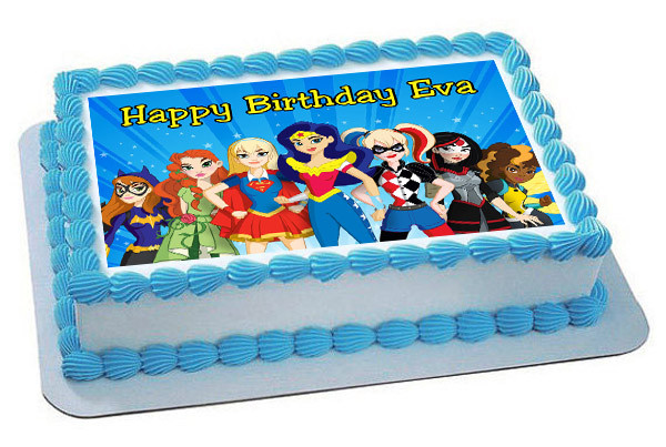 DC Superhero Girls Edible Birthday Cake Topper