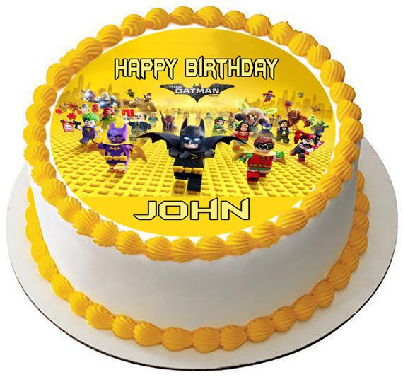 The Lego Batman Movie Edible Birthday Cake Topper