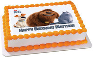 The Secret Life of Pets 1 Edible Birthday Cake Topper OR Cupcake Topper, Decor