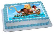 Moana 2 Edible Birthday Cake Topper OR Cupcake Topper, Decor