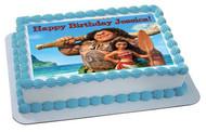 Moana 3 Edible Birthday Cake Topper OR Cupcake Topper, Decor