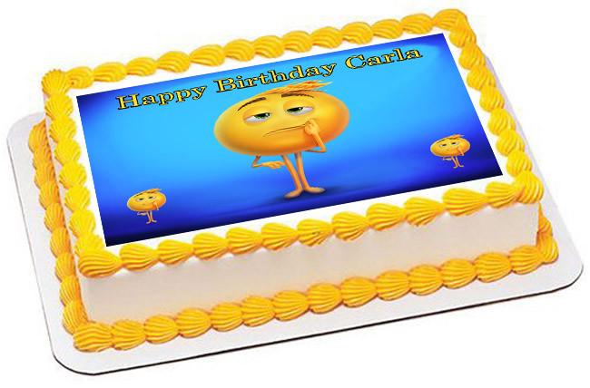 The Emoji Movie Edible Birthday Cake Topper