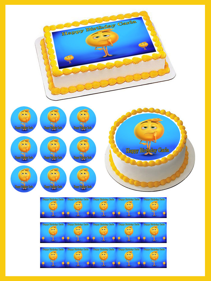 The Emoji Movie Edible Birthday Cake Topper
