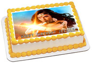 Wonder Woman 2 Edible Birthday Cake Topper OR Cupcake Topper, Decor