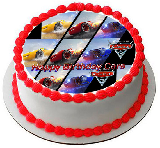CARS 3 Edible Birthday Cake Topper