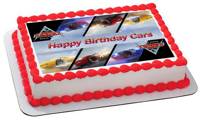 Cars 3 Mirror Picture Edible Birthday Cake Topper Or Cupcake Topper Decor