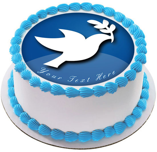 Stupendous Peace Dove Edible Birthday Cake Topper Personalised Birthday Cards Cominlily Jamesorg
