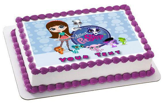 Magnificent Littlest Pet Shop Edible Birthday Cake Topper Funny Birthday Cards Online Alyptdamsfinfo