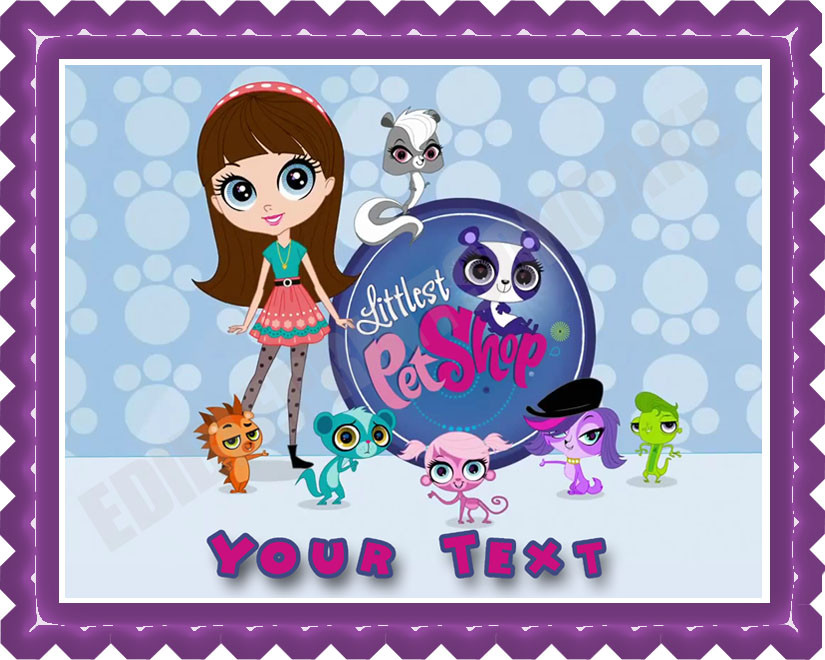 Peachy Littlest Pet Shop Edible Birthday Cake Topper Funny Birthday Cards Online Elaedamsfinfo