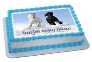 Horses 2 Edible Birthday Cake Topper OR Cupcake Topper, Decor