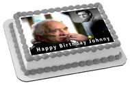 Johnny Cash 1 Edible Birthday Cake Topper OR Cupcake Topper, Decor
