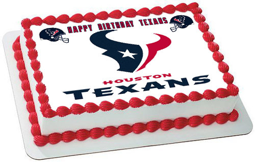 Pleasant Houston Texans Edible Birthday Cake Topper Birthday Cards Printable Giouspongecafe Filternl