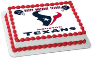 Houston Texans Edible Birthday Cake Topper OR Cupcake Topper, Decor