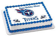 Tennessee Titan Edible Birthday Cake Topper OR Cupcake Topper, Decor