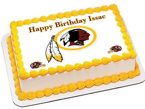 Brilliant Washington Redskins Edible Birthday Cake Topper Funny Birthday Cards Online Sheoxdamsfinfo