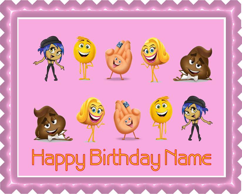 The Emoji Movie B Edible Birthday Cake Topper