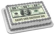100 dollar bills B Edible Birthday Cake Topper OR Cupcake Topper, Decor