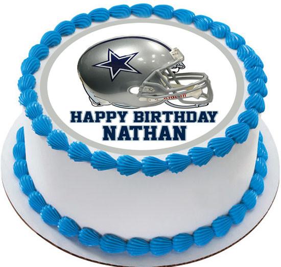 Tremendous Dallas Cowboys Edible Birthday Cake Topper Personalised Birthday Cards Paralily Jamesorg