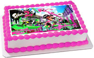 Splatoon 2 Edible Birthday Cake Topper OR Cupcake Topper, Decor