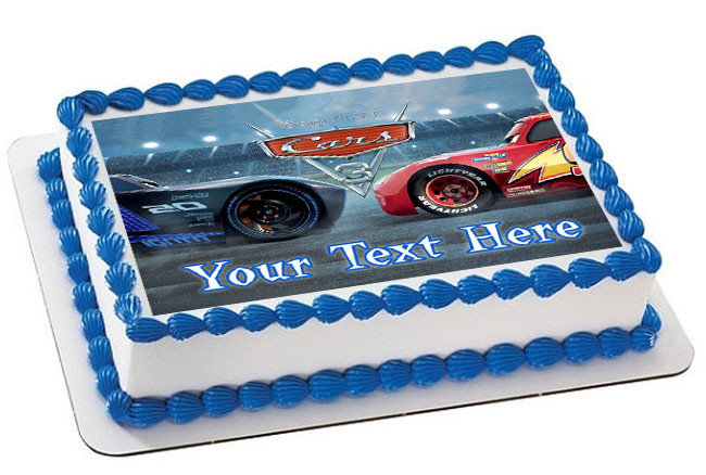 Excellent Disney Pixar Cars Lightning Mcqueen 3 Edible Birthday Cake Topper Personalised Birthday Cards Cominlily Jamesorg