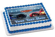 Disney Pixar Cars Lightning McQueen 3 Edible Birthday Cake Topper OR Cupcake Topper, Decor