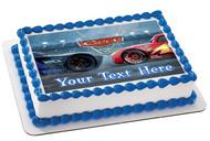 Disney Pixar Cars Lightning McQueen 3 Edible Birthday Cake Topper OR Cupcake Topper, Decor
