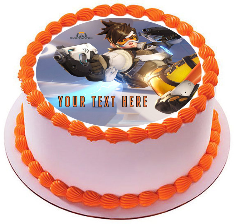Overwatch Edible Birthday Cake Topper OR Cupcake Topper, Decor