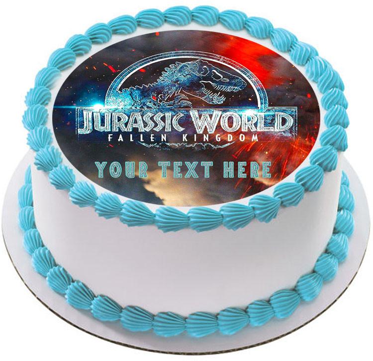 Jurassic World The Fallen Kingdom Edible Birthday Cake Topper