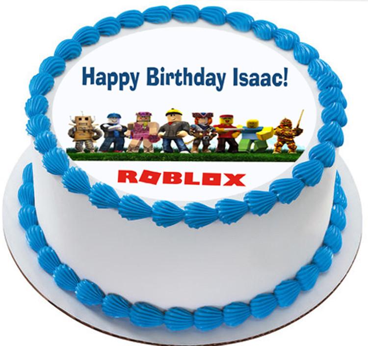 Roblox Birthday Cupcakes Roblox Edible Birthday Cake Topper