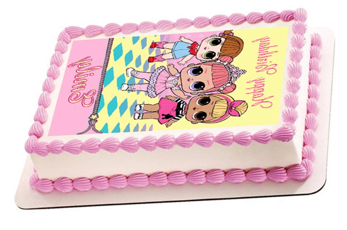 Marvelous Lol Suprise Dolls Edible Birthday Cake Topper Funny Birthday Cards Online Alyptdamsfinfo