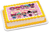Lol Suprise Dolls (Nr2) - Edible Cake Topper OR Cupcake Topper