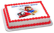 Mario - Edible Cake Topper OR Cupcake Topper, Decor